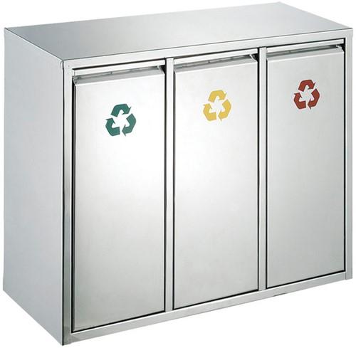 Recycling afvalbak 3x15L