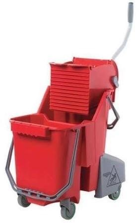 Unger Sanitär Combo, 30 L (Rolemmer + Pers), Rood