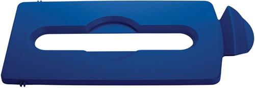 Slim Jim Recyclingstation Papier Deksel, Blauw