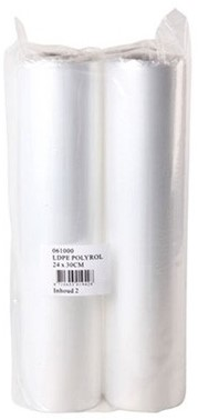 Slagersfolie, LDPE Polyrol, 24cm x 30m